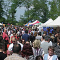 Bustle of the fair in the May Day picnic - Gödöllő (Jedľovo), Maďarsko