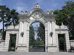 The wonderful baroque wrought-iron gate of the park of the Festetics Palace - Keszthely, Maďarsko