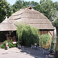 The Crocodile House with its tatched roof - Budapešť, Maďarsko