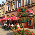 Café terrace beside the Horváth House - Miskolc, Maďarsko