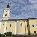 The late baroque style Roman Catholic church of Nagykálló - Nagykálló, Maďarsko