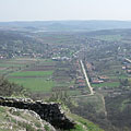 View to the village and the Nógrád Hills from the cliff - Csővár, Macaristan