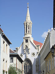 The church of the Ursulines, viewed from the Fegyvertár Street - Sopron, Macaristan