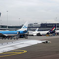 An airplane of the Malév (former Hungarian Airlines) at Schipol Airport - Amsterdam, Olanda