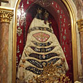 Chapel of Loreto, on the alter it is the copy of the Virgin Mary statue of Loreto, carved of cedar wood - Gödöllő, Hungria