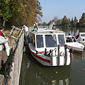 A berth by the river backwater, at the south-eastern edge of the arboretum - Szarvas, Hungria