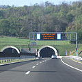 """The eastern entrance of the tunnel pair at Bátaszék (also known as Tunnel """"A"""") on the M6 motorway (this section of the road was constructed in 2010) - Szekszárd, Hongrie"""