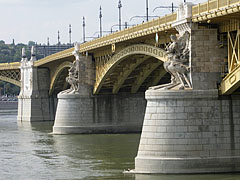 The Pest-side wing of the Margaret Bridge - Budapeszt, Węgry