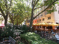 Park and restaurants - Budapeszt, Węgry
