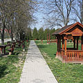 Park in the village center - Csővár, Węgry