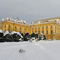 The palace, viewed from the garden - Fertőd, Węgry