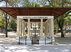The well-pump room (pavilion) of the Kossuth Lajos drinking fountain was built in 1800 - Balatonfüred, Угорщина