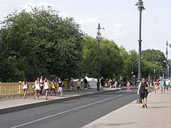 The southern exit road of the Margaret Island (way up to the Margaret Bridge) - Budapest, Ungarn