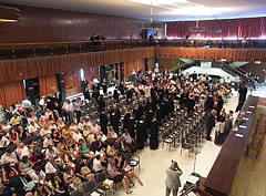 The graduation ceremony of the Szent István University YBL Miklós Faculty of Architecture and Civil Engineering in the ceremonial hall - Budapest, Ungarn
