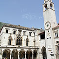 The Sponza Palace and the City Bell Tower (belfry) - Dubrovnik, Kroatien