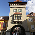 The Heroes' Tower or Heroes' Gate, today it is the Town Museum - Kőszeg (Güns), Ungarn