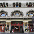The entrance of the Urania Film Theater from the street - Budapest, Ungarn