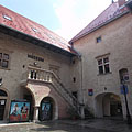 The inner courtyard of the late renaissance castle - Szerencs, Hongarije