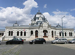 "The building and main entrance of the City Park Ice Rink (""Városligeti Műjégpálya"") - Budapest, Ungari"