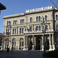 Corvinus University of Budapest, the south eastern facade of the main building - Budapest, Ungari
