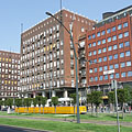 """The """"Madách"""" residental building complex, and on the right the """"Európa Center"""" office building - Budapest, Ungari"""