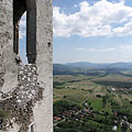 Looking down to the village and its surroundings from beside the chapel tower - Füzér, Ungarn