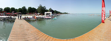 Lakeside of the Balaton, Beach - Siófok, Ungarn