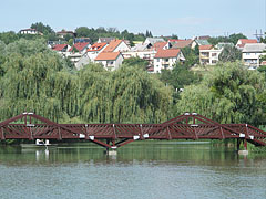 The boating pond with the footbridge - Ajka, Hungary
