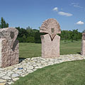 The Jubilee Memorial sculpture at the edge of the park - Ajka, Hungary