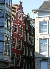 Outward leaning facades - Amsterdam, Netherlands