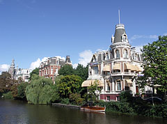 "The gracht beside the National Museum (""Risjksmuseum""), viewed from the bridge - Amsterdam, Netherlands"
