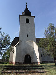 The steeple of the Reformed Fortress-Church - Balatonalmádi, Hungary