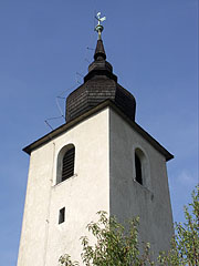 The steeple of the fortified Reformed Church - Balatonalmádi, Hungary