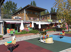 Buffets, cafés, brasseries and a mini playground in Esterházy Beach - Balatonfüred, Hungary