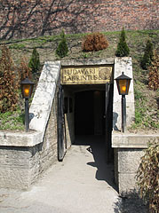 The lower entrance of the Buda Castle Labyrinth - Budapest, Hungary