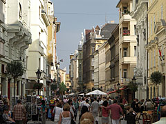 Pedestrian thoroughfare (pedestrian-only street) - Budapest, Hungary