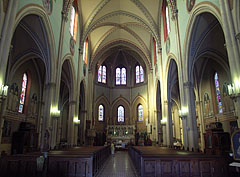 Inside the Saint Margaret of Hungary Roman Catholic Church - Budapest, Hungary