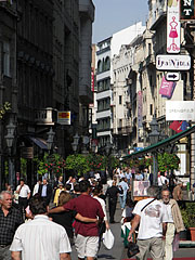 Váci Street pedestrian area and shopping district - Budapest, Hungary
