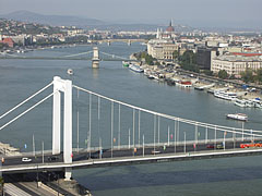 The inner Dabube-bridges from the Gellért Hill - Budapest, Hungary