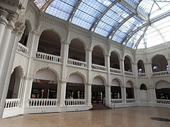 The arcaded great atrium (glass-roofed hall) of the Museum of Applied Arts - Budapest, Hungary