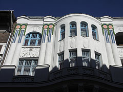 Rampage of the secession (Art Nouveau) style over the Paris, Texas Café - Budapest, Hungary