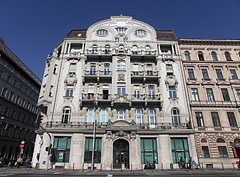 Head office of the Merkantil Bank (formerly: First Hungarian Post Office Savings Bank) - Budapest, Hungary