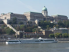 The side of the Buda Castle Palace that overlooks the Danube River - Budapest, Hungary