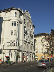 Renovated Art Nouveau style corner building - Budapest, Hungary