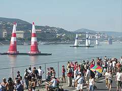 Crowd on the riverside embankment of Pest, on the occasion of the Red Bull Air Race - Budapest, Hungary