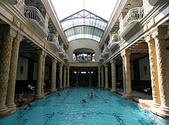 The indoor swimming pool of the Gellért Bath - Budapest, Hungary