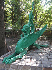 Green iron dragon - Budapest, Hungary