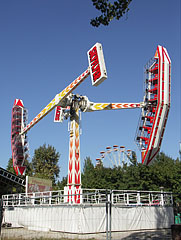The Sky Flyer attraction of the amusement park - Budapest, Hungary