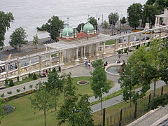 The view of the Buda Castle Pavilion (Várkert Bazár) from above - Budapest, Hungary
