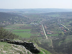 View to the village and the Nógrád Hills from the cliff - Csővár, Hungary